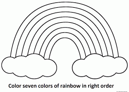 Printable Rainbow Coloring Pages Best Photos Of Page Sheets Color Free