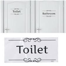 englisch schild toilette badezimmer lustig wandaufkleber
