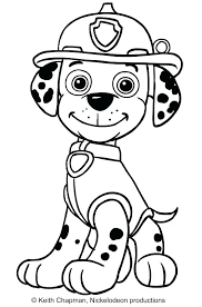 Skye Paw Patrol Coloring Pages Prepossessing Sitting In Front Sky