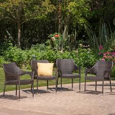 Miranda Outdoor Mix Mocha Wicker Stacking Dining Chairs (Set Of 4) Gdf Studio Dorside Outdoor Wicker Armless Stack Chairs With Alinum Frame Dover Armed Stacking With Set Of 4 Palm Harbor Stackable White All Weather Patio Chair Bay Island Noble House Multibrown Ding 2pack Plowhearth Bistro Two 30 Arm Brown 51 Bfm Seating Ms11cbbbl Gray Rattan Inoutdoor Restaurant Of Red By Crosley Fniture