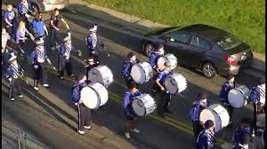 Circleville Pumpkin Festival Parade by Washington Blue Lions Marching Band Homecoming Pre Game Parade