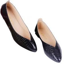 Ladies Fashion Snakeskin Pattern Patent Leather Shoes Comfortable Simple Casual Flat Black 36