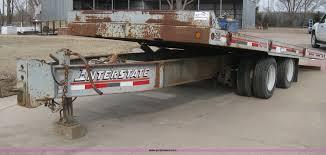 100 Interstate Truck Equipment 2001 40TDL Tilt Deck Trailer Item I5577 SOLD
