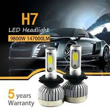 pair h7 980w 147000lm car led headlight bulbs conversion cob kit