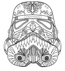 Starwars Skull Sugar Adult Coloring Pages Printable And Book To Print For Free Find More Online Kids Adults Of