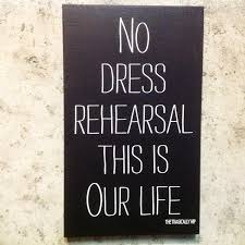 Gone With The Wind Curtain Dress Quote by Custom Wood Sign No Dress Rehearsal This Is Our Life The Hip