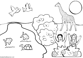 God S Creation Colouring Pages In Coloring And