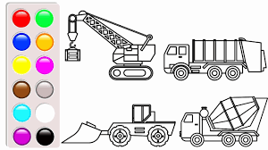 Truck Coloring Book Fresh Learn Colors With Construction Truck ... Cstruction Trucks Coloring Page Free Download Printable Truck Pages Dump Wonderful Printableor Kids Cool2bkids Fresh Crane Gallery Sheet Mofasselme Learn Color With Vehicles 4 Promising Excavator For Coloring Page For Kids Transportation Elegant Colors With Awesome Of