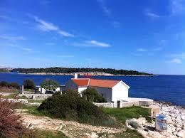 leuchtturm verudica in istrien bei pula kroatien