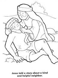 Good Samaritan Story From Jesus Coloring Page