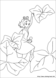 Secret World Of Arrietty The Little Borrower Coloring Page