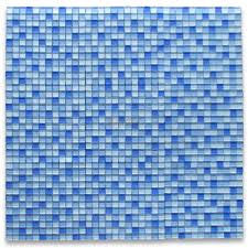 white and blue glass 7 8 square mosaic tile glass tile