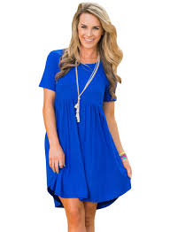 women u0027s short sleeve pullover babydoll style casual dress
