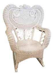 1990s Vintage White Wicker Rocking Chair 0 All Seasons Equipment Heavy Duty Metal Rocking Chair W The Top Outdoor Patio Fniture Brands Cane Back Womans Hat Victorian Bedroom Remi Mexican Spalted Oak Taracea Leigh Country With Texas Longhorn Medallion Classic Porch Rocker Ladderback White Solid Wood Antique Rocking Chair Wood Rustic Pagadget Worlds Largest Cedar Star Of Black