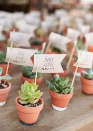 Succulents Make For A Sweet Escort Card Idea And Double As Wedding Favor Your Guests