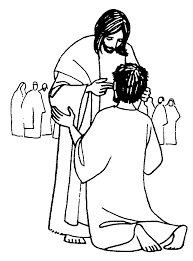 Jesus Heals The Sick Coloring Pages