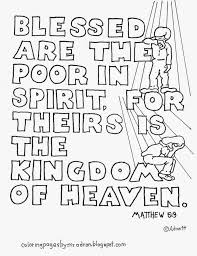 Coloring Pages For Kids By Mr Adron Matthew 53 Blessed Are