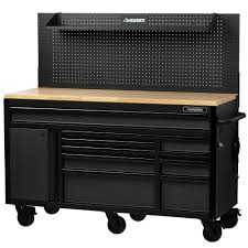 100 Husky Truck Tool Box Review 61 In W 23 In D 10Drawer 1Door Mobile Workbench With Solid