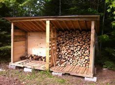 firewood storage bet i could use pallets for this too