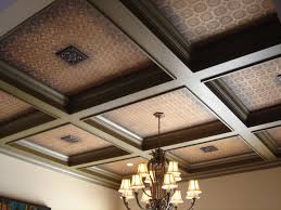 Ceilume Coffered Ceiling Tiles by Coffered Look Faux Tin Ceiling Tile Td03 Antique White 25 Tiles