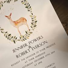 Rustic Deer Boho Wedding Invitations EWI413 3