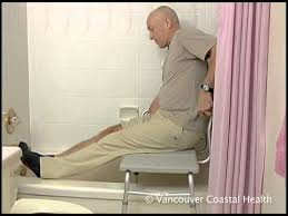 bathing using a tub transfer bench youtube