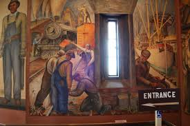 Coit Tower Murals Images by Coit Tower Hesthal Mural San Francisco Ca Living New Deal