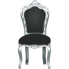 casa padrino barock esszimmer stuhl schwarz silber möbel