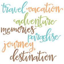 Travel Words Set SVG Scrapbook Cut File Cute Clipart Files For Silhouette Cricut Pazzles Free Svgs Svg Cuts