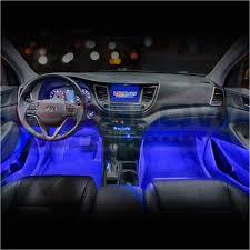 Blue Led Interior Lights For Cars Ledglow 4pc Blue Led Car Interior ...