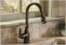 Kohler Touchless Faucet Barossa by Brushed Nickel Deck Mount Moen Brantford Kitchen Faucet Single