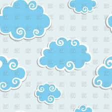 100 Flat Cloud Seamless Background With Flat Clouds Stock Vector Image