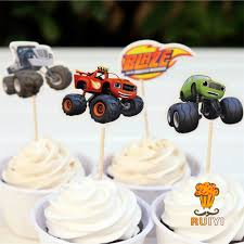 24pcs Blaze And The Monster Machines Candy Bar Cupcake Toppers Pick ... Monster Truck Cupcakes Jess Bakes Monster Jam Truck Party Complete Racing Editable Truck Printables Invitation Birthday Cakes Decoration Ideas Little Blaze And The Machines Edible Cake Topper Image Printable Custom Flag Cupcake Toppers 700 Via Images M To S The Monkey Tree 24 Jam Rings Cake Birthday Party Favors Pinjennifer Matcham On Pinterest Trucks In 12 Personalized Cupcake Toppers Grace Giggles Glue