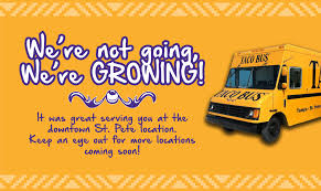 We're Growing, Not Going - Taco Bus Taqueria Angelicas San Francisco Food Trucks Roaming Hunger Tyler Florence Shares Secrets Of Successful Youtube The Taco Truck Milani Hi Taking A Delicious Side Trip On The Trail Tbocom Vehicle Wrap Wraps Miami Ft Lauderdale Florida Custom Charlies Tacos Los Angeles Bus Tampa Hungry Vegan Traveler Me Gusta Eat Duck Purveyors Dectable Discourse Southwest Forks Worlds Largest Festival Rons Shop Asheville Nc