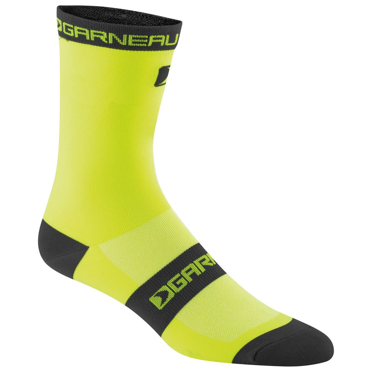 Louis Garneau Adult Tuscan Long Cycling Socks - Yellow Black, Small and Medium