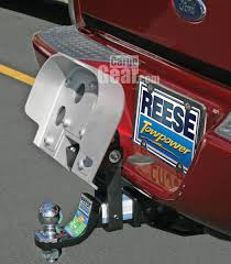 Reese Flip-up Hitch Step, Flipped Up For Towing