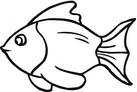 Goldfish Coloring Pages Gold Fish Page Clipart Panda Free