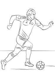 Gareth Bale Soccer Player From Real Madrid Coloring Page