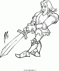 Knight With Sword Coloring Pages