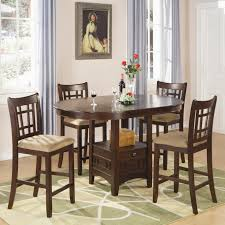 5 Piece Counter Height Dining Room Sets by Coaster Lavon 5 Piece Counter Table And Chair Set Coaster Fine