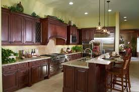The Long Design Of This L Shaped Kitchen Lines Most Items Up On One Side Island Sink Makes It Easy To Turn Back And Forth From Stove