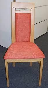 esszimmer stuhl polsterstühle buche massiv bezug rot