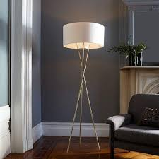 Target Tripod Floor Lamp With Drum Shade by Century Tripod Brass Floor Lamp