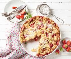 erdbeer rhabarber clafoutis