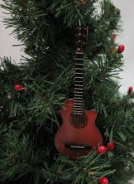 Brown Acoustic Guitar Christmas Tree Ornament 55 Inch Height