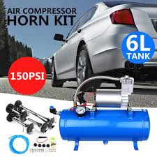 Car Truck Train 6 Liter Tank Air Compressor 4-Trumpet Horn Kit ... Where To Get Big Rig Horns Diesel Forum Thedieselstopcom 150db Dual Trumpet Air Horn Compressor Kit For Van Train Car Truck Diagram Of Parts An Adjustable And Nonadjustable 12v Boat 117 Horn 12 24 Volt 2 Trumpet Air Loudest Kleinn 142db Kleinn Hk8 Triple Accsories Pinterest Horns Trucks Canada Best Resource Spare Tire Delete Bracket Hornblasters Blasters Outlaw 127v Black Sk Customs 12v Super Loud Mega Tank Truckin Magazine 8milelake 150db Ki