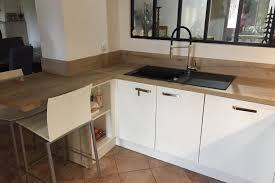 cuisine blanc et bois cuisine blanc bois trendy cuisine moderne bois blanc with cuisine