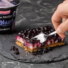 high protein blueberry cheesecake