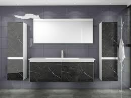 badmöbel set weiss schwarz marmor optik hochglanz badezimmermöbel 240 cm bad luuci