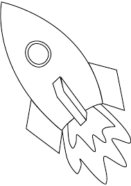 Space Ship Coloring Page Online